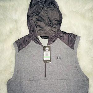 Under Armour Gray sleeveless men's hoodie sz Large